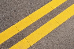 Double Yellow Lines Royalty Free Stock Image
