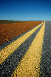 Double Yellow Lines Stock Photo