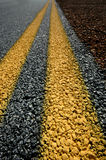 Double Yellow Lines Stock Image