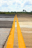 Double Yellow Lines Royalty Free Stock Photos