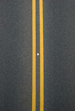 Double yellow lines divider Royalty Free Stock Photos
