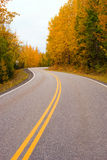 Double Yellow Lines Fall Highway Alaska Highway Transportation Stock Photography
