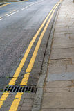 Double yellow lines Royalty Free Stock Images