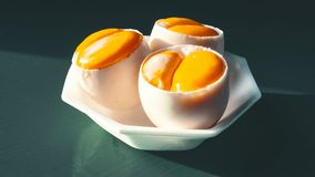 Double-yolk eggs cover Royalty Free Stock Photography