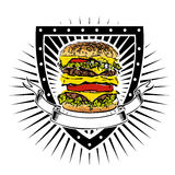 Doubleburger shield Stock Photography