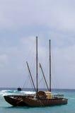 Doubled a décortiqué le vaka à Rarotonga - faites cuire Islands Image libre de droits