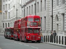 Doubledecker bus. LONDON - JULY 23: Doubledecker buses are very famous symbol of London, capital city of UK, nowadays disappearing in their classical old form Royalty Free Stock Image