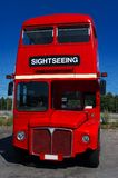 Doubledecker bus. English style doubledecker bus with sightseeing sign Stock Image