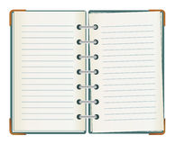 doublen fodrade anteckningsboken sid Royaltyfri Fotografi