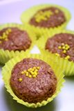 Doubles biscuits de Choc photos stock