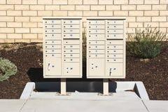Doubles boîtes aux lettres Images stock