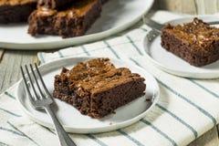 Doubles 'brownie' foncés de chocolat photographie stock libre de droits