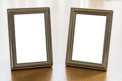 Doubles cadres de photo Photo libre de droits