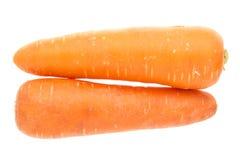 Doubles grosses carottes Photographie stock