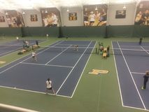 Doubles match between Purdue and Tulsa Royalty Free Stock Image