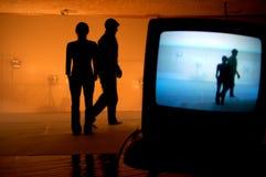 doubles silhouette Στοκ Εικόνα