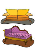Doubles sofas Illustration de Vecteur
