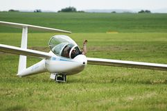 Doubleseater DG1000 - Aeroclub Nitra de Slovac Foto de archivo