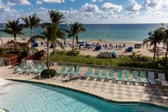 DoubleTree度假旅馆海洋点,北部迈阿密海滩 免版税库存图片