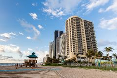 DoubleTree度假旅馆海洋点,北部迈阿密海滩 免版税库存照片