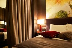 DoubleTree by Hilton. MOSCOW, RUSSIA - MARCH 29, 2015: interior of DoubleTree by Hilton. DoubleTree by Hilton is an American hotel chain and a part of Hilton Royalty Free Stock Photography