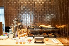 DoubleTree by Hilton. MOSCOW, RUSSIA - MARCH 29, 2015: interior of DoubleTree by Hilton. DoubleTree by Hilton is an American hotel chain and a part of Hilton Royalty Free Stock Photo