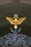 doublez le saint de Pétersbourg d'ermitage dirigé par aigle Images libres de droits