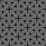 Doublure géométrique de modèle sans couture noir et blanc photo stock