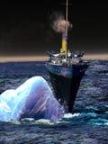 Doublure titanique dans le moment mortel Image stock