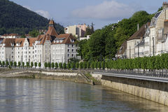 Doubs banks in Besancon Stock Images