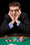 Doubt in the casino Stock Photos