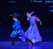 """Doubt in the dream-Dance drama """"The Dream of Maritime Silk Road"""". Dance drama """"The Dream of Maritime Silk Road"""" centers on the plot of two Royalty Free Stock Photography"""