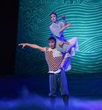 """Doubt in the dream-Dance drama """"The Dream of Maritime Silk Road"""". Dance drama """"The Dream of Maritime Silk Road"""" centers on the plot of two stock images"""