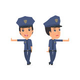 Doubt and Funny Character Constabulary leaned against the wall a Royalty Free Stock Image