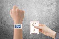 Doubt solution Stock Photos