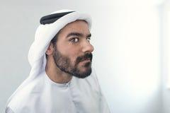 Doubtful Arabian Businessman, Arabian Businessman confused.  Stock Photos