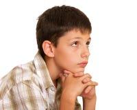 Doubtful boy Stock Photo