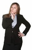Doubtful Business Woman Royalty Free Stock Photography