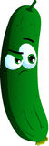 Doubtful cucumber or pickle Royalty Free Stock Photography