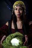 Doubtful Fortune Teller Stock Images