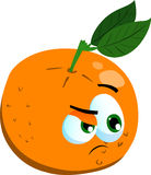 Doubtful orange Stock Photo