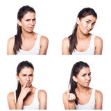 Doubtful,querstionable, incredulous girl composite Stock Image