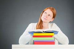 Doubtful or Questioning Student Stock Image