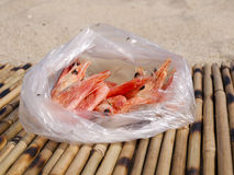 Doubtful shrimps in a package Stock Photo