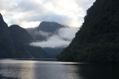 Doubtful Sound at Daybreak A. Doubtful Sound, South Island New Zealand at Daybreak Stock Photos