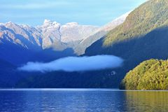 Doubtful Sound. Fjordland in New Zealand Stock Photos