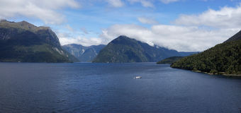 Doubtful Sound and Secretary Island Stock Photos