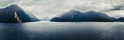 Doubtful Sounds Panorama Stock Image