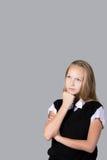 Doubtful teenage girl Royalty Free Stock Photos