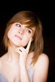 Doubtful woman Stock Photos